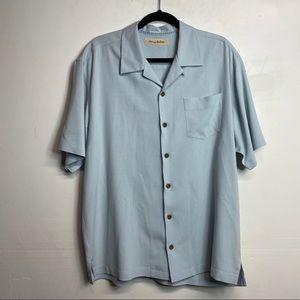 Tommy Bahama silk parrot shirt blue Large